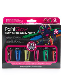 UV Neon Face & Body Paint Kit