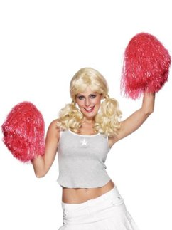 Red Cheerleading Pom Pom - Extra Large
