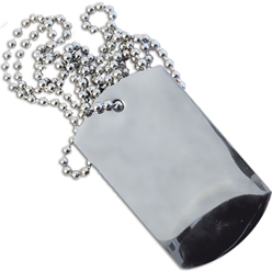 Plain Aluminium Dog Tags