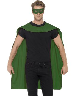 Green cape and mask