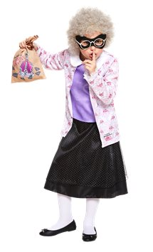 Gangsta Granny Outfit with Wig - David Walliams Costume