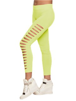 Neon Green Ripped Leggings