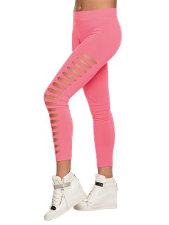 Neon Pink Ripped Leggings
