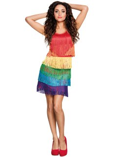 Rainbow Flapper Dress
