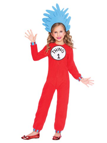 Dr. Seuss Thing One & Two Jumpsuit - Child Costume front