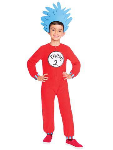 Dr. Seuss Thing One & Two Jumpsuit - Child Costume left