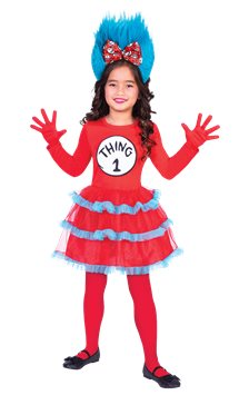 Dr.  Seuss Thing One & Two Dress - Child Costume