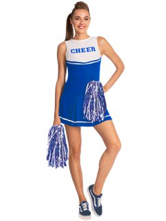 Blue High School Cheerleader
