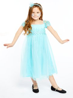 Disney Frozen Elsa Aqua Lace Dress