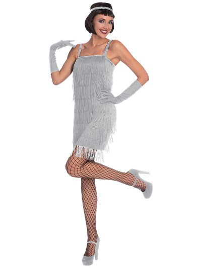 Silver Flapper - Adult Costume