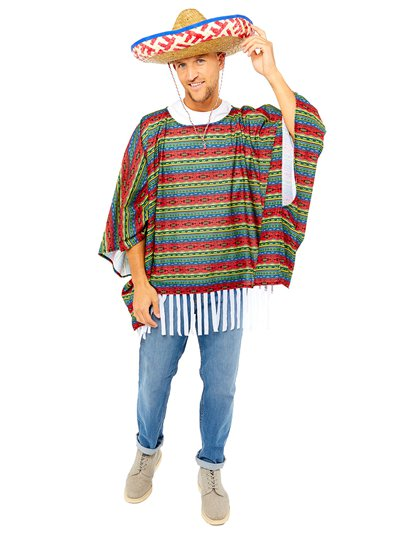 Mexican Poncho Kit - Adult Costume