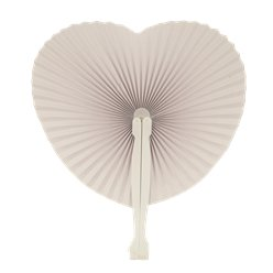 Hand Held Heart Fan - Paper - 14cm