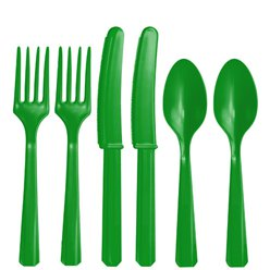 Green Reusable Cutlery - Assorted 24pk