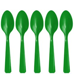 Green Reusable Spoons - 20pk