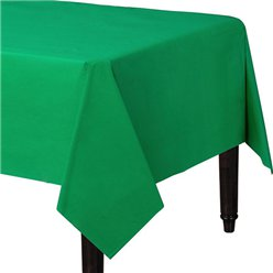 Green Plastic Tablecover - 1.4m x 2.8cm