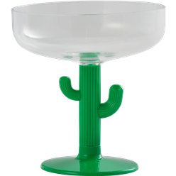 Mexican Fiesta Cactus Margarita Glass - 354ml Plastic Glass