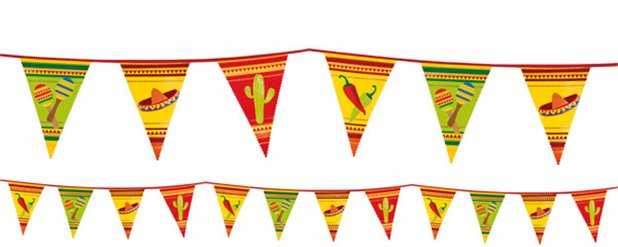 Mexican Fiesta Bunting - 6m