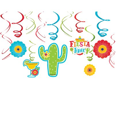 Fiesta Swirl Decorations