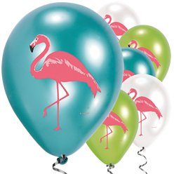 "Flamingo Paradise Balloons - 11"" Latex"