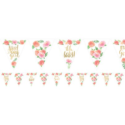 Floral Baby Paper Bunting - 4.6m