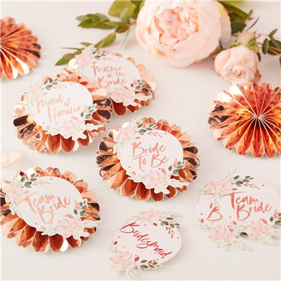 Floral Hen Party Badges
