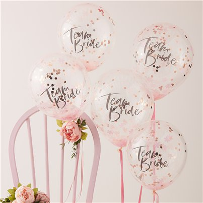 "Floral Hen Party Team Bride Confetti Balloons - 12"" Latex"