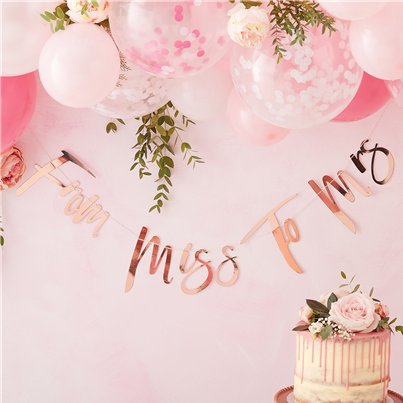 Floral Hen Party 'From Miss to Mrs' Banner - 1.5m