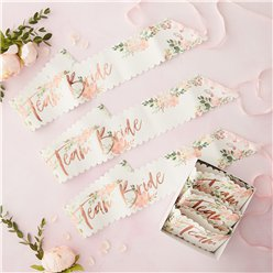 Floral Hen Party Team Bride Sashes