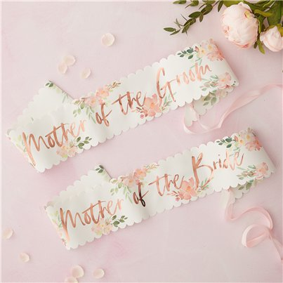 Floral Hen Party Mother of the Bride & Groom Sashes