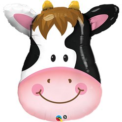"Birthday Contented Cow Supersize Balloon - 32"" Foil"