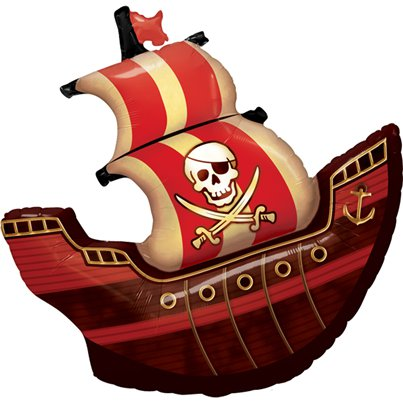 "Birthday Pirate Ship Supersize Balloon - 40"" Foil"