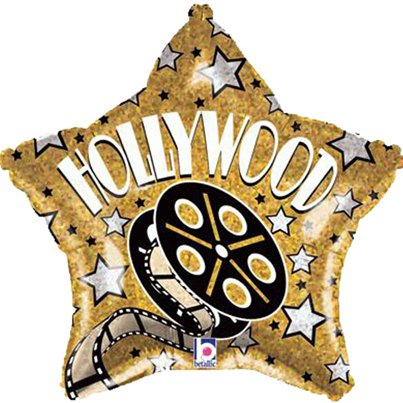 "Hollywood Star Shaped Balloon - 19"" Foil"