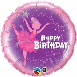 "Ballerina Happy Birthday Balloon - 18"" Foil"