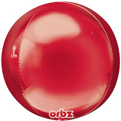 "Red Orbz Balloon - 16"" Foil - Unpackaged"