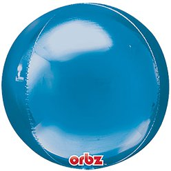 "Blue Orbz Balloon - 16"" Foil - Unpackaged"