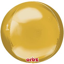 "Gold Orbz Balloon - 16"" Foil - Unpackaged"
