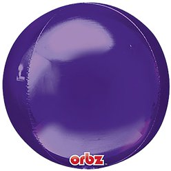 "Purple Orbz Balloon - 16"" Foil - Unpackaged"