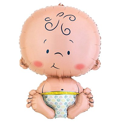 "Baby Super Shaped Giant Balloon - 22"" Foil - unpackaged"