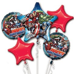 Avengers Happy Birthday Balloon Bouquet - Foil Assortment