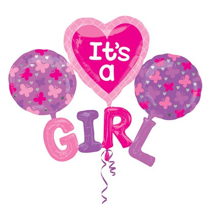 "It's A Girl Multi Balloon - 39"" Foil"