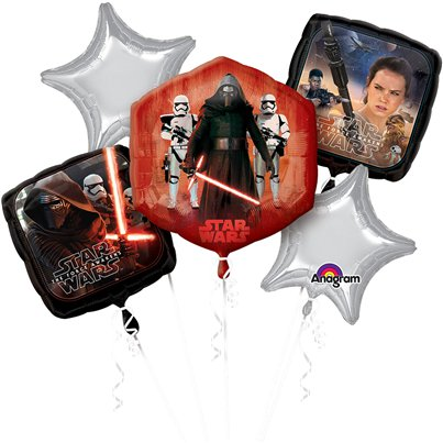 Star Wars The Force Awakens Balloon Bouquet - Assorted Foil