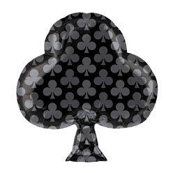 "Black Club Foil Balloon - 19"" Foil"