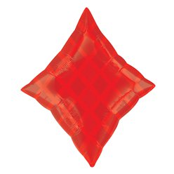 "Red Diamond Foil Balloon - 19"" Foil"