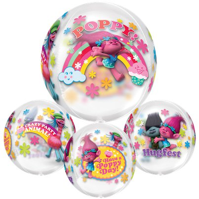 "Trolls Clear Orbz Balloon - 16"" Foil"
