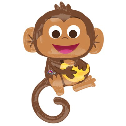 "Happy Monkey SuperShape Balloon - 36"" Foil"