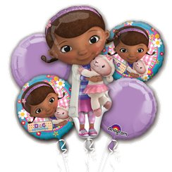 Doc McStuffins Balloon Bouquet - Assorted Foil