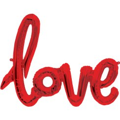"Love Red Phrase Balloon - 40"" Foil"