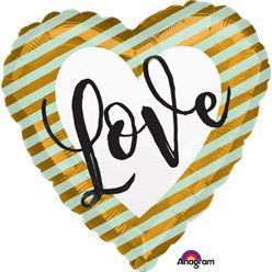 "Wedding Love Stripes - 18"" Foil"