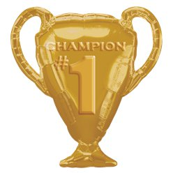 Gold Trophy Foil Supersize Balloon - 25""