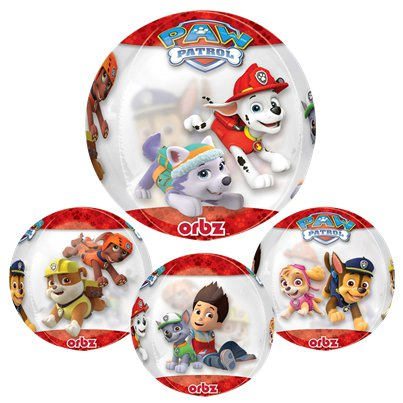 "Paw Patrol Chase & Marshall Orbz Balloon - 16"" Foil"